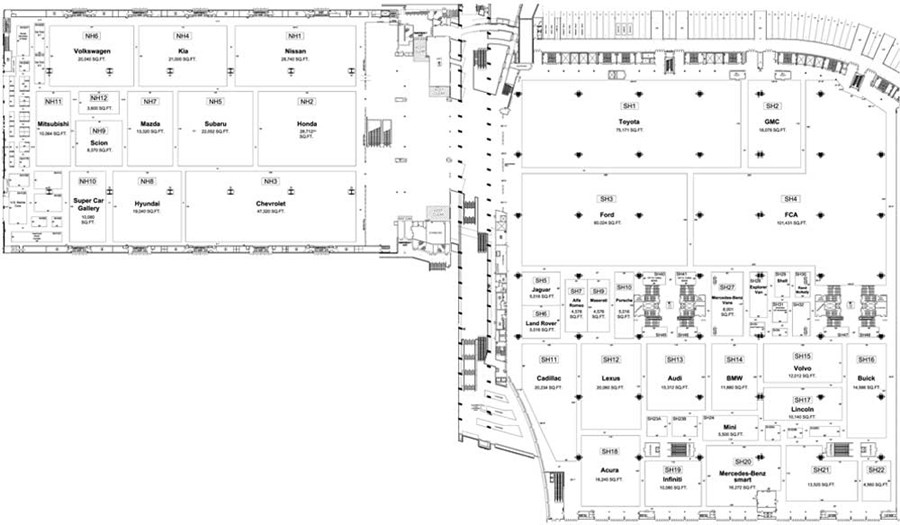 2016 Chicago Auto Show Floor plan