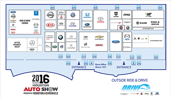 2016 Houston Auto Show Floor Plan