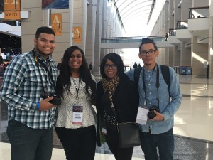 ASG 2016 Chicago Auto Show Team (From left, Jonathan Morales, Sydnie Coleman, Karla Thornhill Coleman and Javi Irizarry)