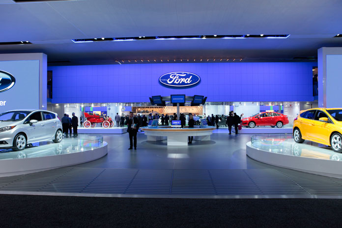 The Ford stand @ the 2013 North American International Auto Show