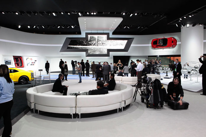 The Chevy stand @ the 2013 North American International Auto Show