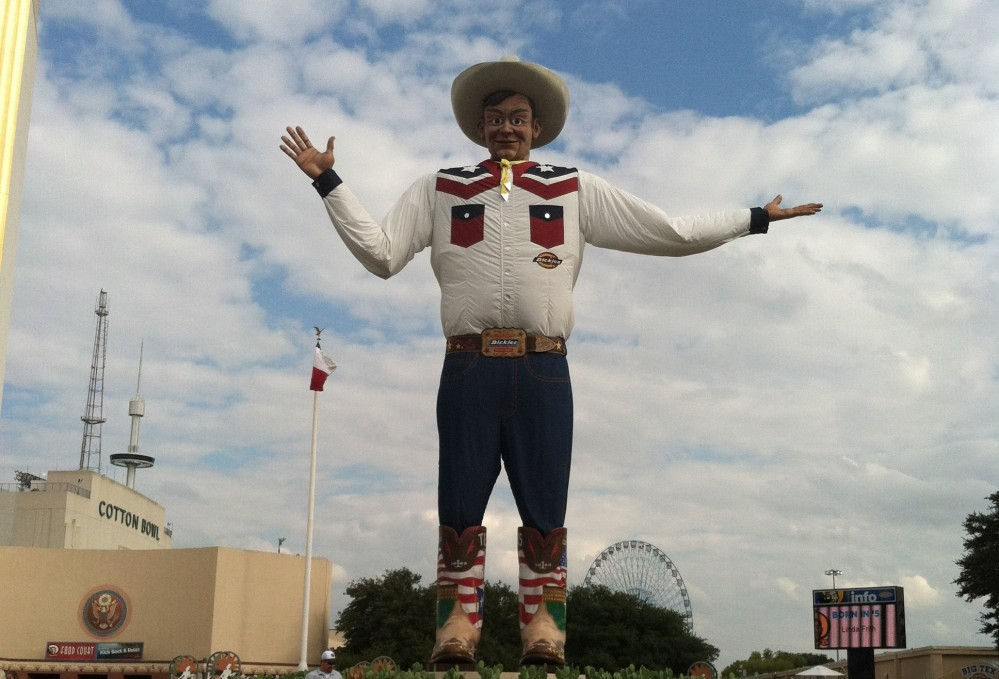 Big Tex is back; brand new and looking good. He's the star of the show.