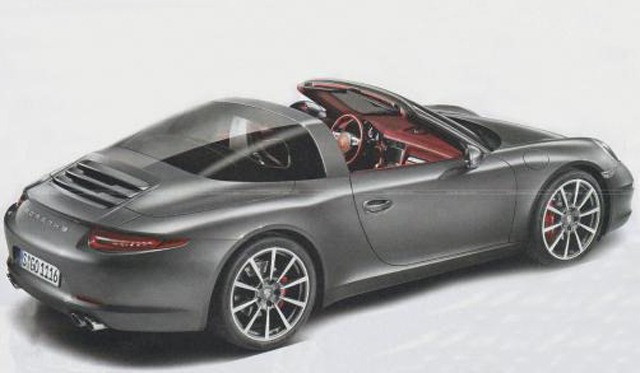 Porsche 911 Targa will be unveiled at the 2014 North American International Auto Show in Detroit