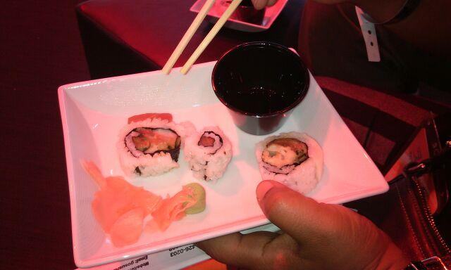 Sushi at the Nissan Stand