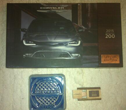 2015 Chrysler 200 press kit with Pewabic Pottery tile
