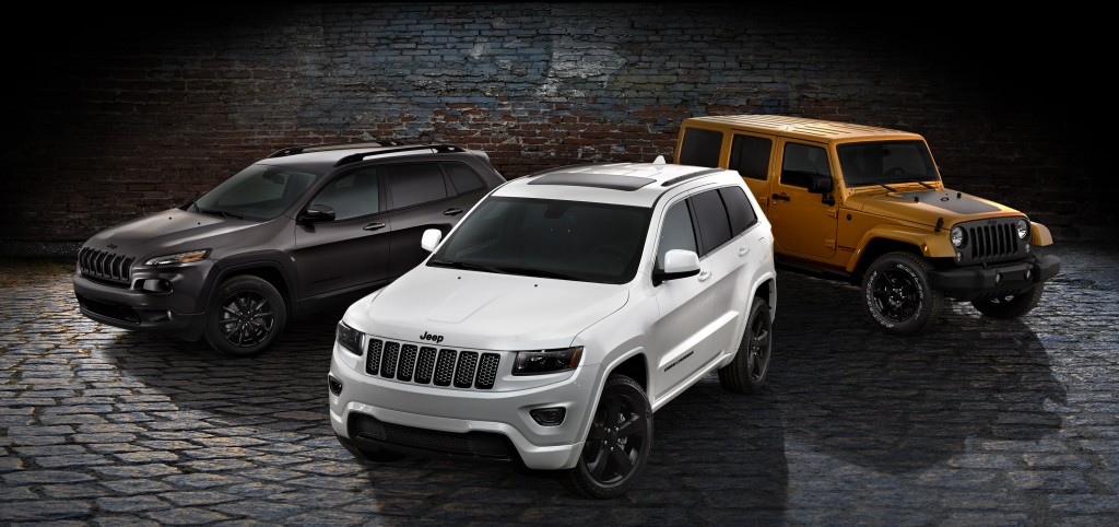 2014 Jeep Cherokee, Grand Cherokee and Wrangler Unlimited Altitude