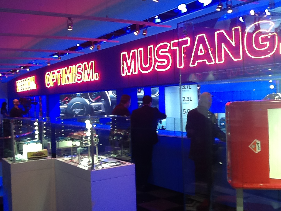 Mustang display in the Ford stand