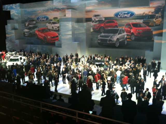 Ford reveal of the F-150  at Joe Louis Arena
