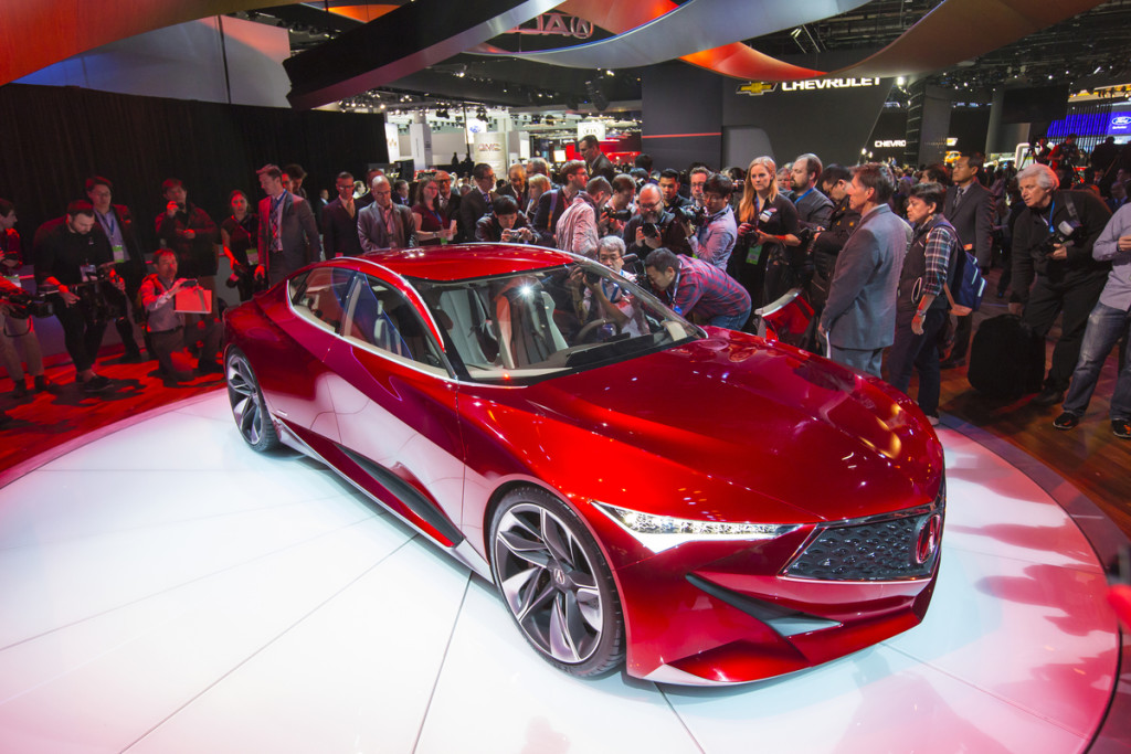 The Acura Precision Concept at its 2016 North American International Auto Show unveiling in Detroit, MI on Jan. 12