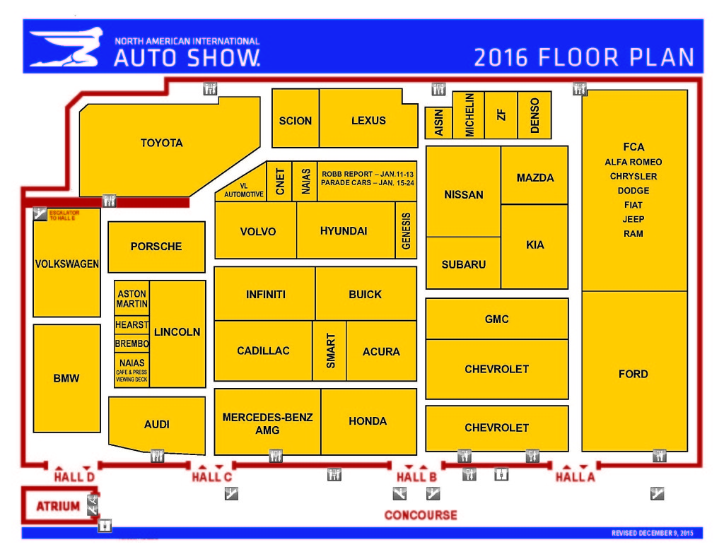 2016 NAIAS Floorplan