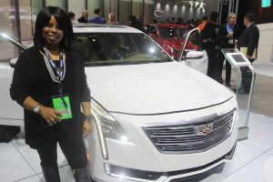 Karla Thornhill Coleman at the 2016 North American International Auto Show in Detroit, Michigan