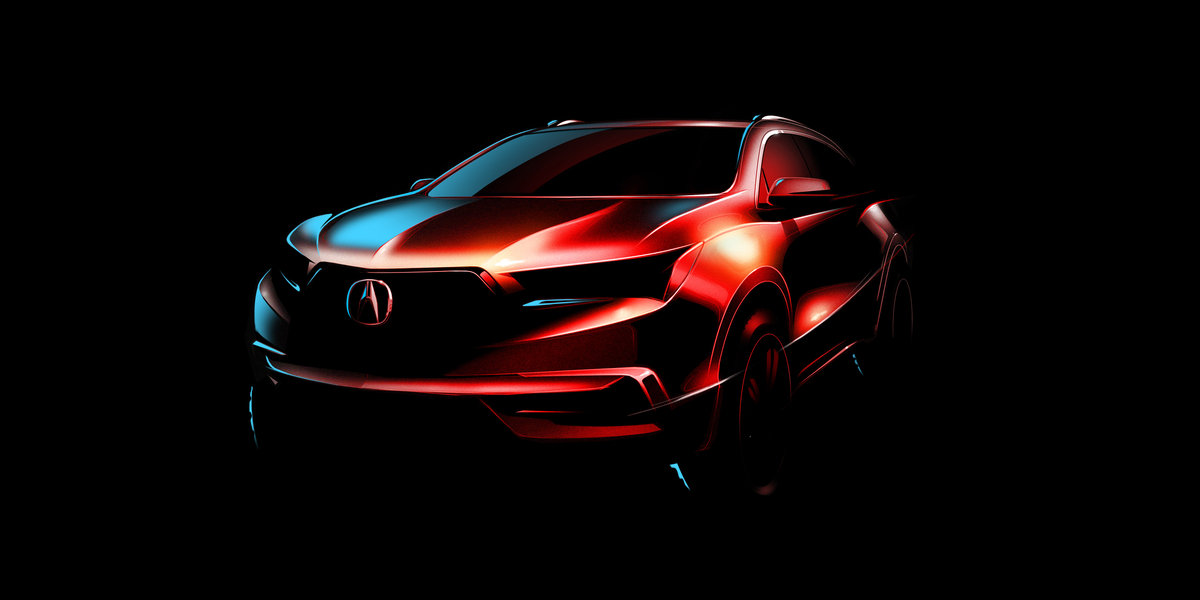 2017 Acura MDX will be unveiled at the 2016 New York International Auto Show on March 23